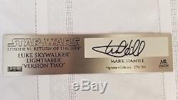 Répliques Maîtresses Star Wars Luke Skywalker Version 2 Sabre Laser Sw-171se # 235/500