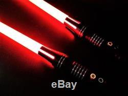 Sabre Laser De L9 Rgb Led De Tout Le Métal Fait Sur Commande Avec 11 Couleurs Et Sons Differents