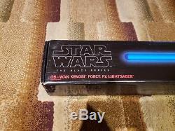 Sabre Laser Force Fx Kenbi Obi-wan Kenji De Star Wars Série Noire Tout Neuf