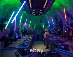 Sabre Laser Personnalisé Edge De Star Wars Galaxy + Cristal + Atelier De Stand Savi
