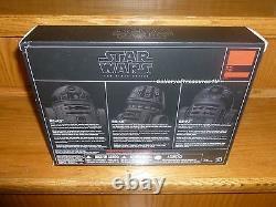 Sdcc Star Wars Black Series 2016 Astromech Droid 3 Pack 6 R2-a3 R5-k6 R2-f2