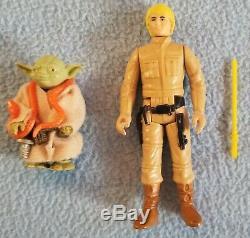 Star Wars 1980 Yoda Luke Skywalker Figurine Cardback Voler, Lumière Serpent Sabre