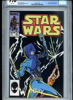 Star Wars # 96 Cgc 9.8 Pages Blanches Bataille Au Sabre Léger