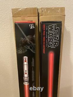 Star Wars Black Series Dark Maul Force Fx Sabre Laser Flambant Nouveau Hasbro Set Of 2