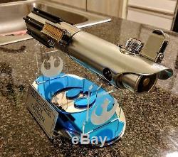 Star Wars De Luke Skywalker Esb Ep. Sabre Laser V Hoth Avec Support Et Plaque Très Cool