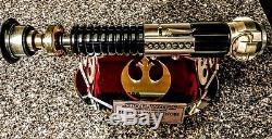 Star Wars Ep. IV Anh Sabre Laser Ken Obi-wan Kenobi Avec Support Et Plaque Très Cool