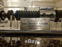 Star Wars Ep. IV Sabre Laser Ben Obi-wan Kenobi IV Avec Étui Et Plaque Très Cool