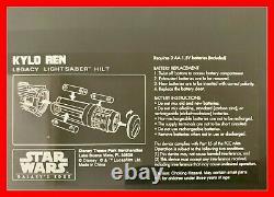 Star Wars Galaxy's Edge Kylo Ren Legacy Lightsaber Hilt Disney No Blade +bonus