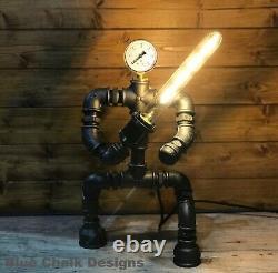 Star Wars Jedi Knight, Lightsaber, Robot, Lampe De Table, Steampunk, Retro, Art