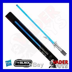 Star Wars La Série Noire Rey (entraînement Jedi) Sabre Laser Hasbro Blue Force Fx