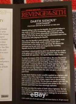 Star Wars Life-size Darth Sidious Limited Edition Lightsaber Hilt