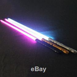 Star Wars Lightsaber Avec Poignée En Métal Lumineux Led Épée De Lumière Laser Sabre Fx