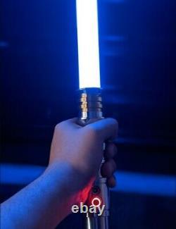 Star Wars Lightsaber Darth Revan Replica Force Fx Poignée De Duel En Métal Lourd