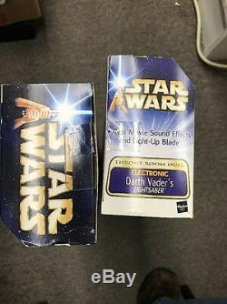 Star Wars Lightsaber Électronique Darth Vader Rotj Misb & Yoda Sabre Laser