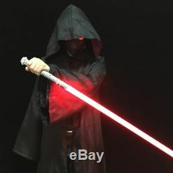 Star Wars Lightsaber Métal Combat Formation Épais Hilt Rvb Son Ninja Chrome