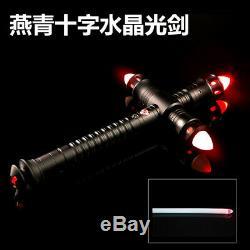 Star Wars Lightsaber Métal Combat Formation Sabre Laser Kylo Ren Barre Transversale (rouge)