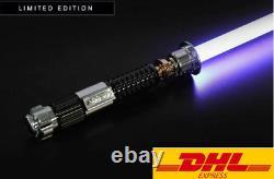 Star Wars Lightsaber Replica Force Fx Obi-wan Dueling Poignée Métallique Rechargeable