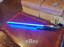 Star Wars Lumière Saber- Force Fx & Stand 2005 Master Replicas Sounds Blue Light