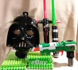 Star Wars Lumière Sabres Nerf Blaster Et Masque Darth Vader