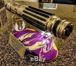 Star Wars Masse Windu Ep. Sabre Laser III Avec Support Et Plaque Très Cool