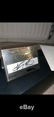 Star Wars Master Replicas Édition Signature Darth Maul Lightsaber