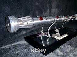 Star Wars Master Replicas Sw-108 Darth Maul Lightsaber 11 Échelle Le Jeu Complet
