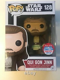 Star Wars Qui Gon Jinn #128 Funko Pop Vinyl Figure. 2016 Nycc 2000 Pièces