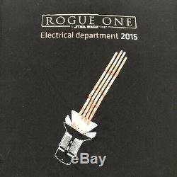 Star Wars Rouge One Moulage Et Équipage Département Electrique 2015 Shirt Light Saber M