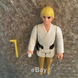 Star Wars Vintage Kenner 1977 Luke Skywalker Farmboy Jj Lettre Hilt Light Saber