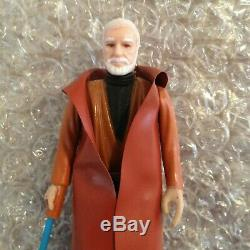 Star Wars Vintage Kenner 1977 Obi-wan Kenobi Barbe Blanche D Lettered Light Saber
