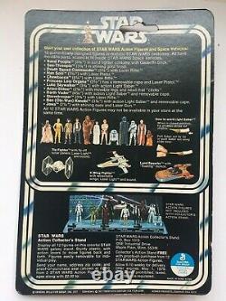 Vintage 1977 Star Wars Dark Vador 12 Back Kenner Original Package Scellé