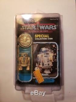 Vintage 1984 Kenner Star Wars R2-d2 Sabre Laser Moc Pièce Spéciale Rare