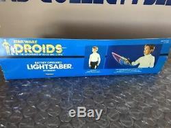Vintage Kenner 1985, Série Télévisée Star Wars Droids, Série Light Saber (rouge) - Non Testée
