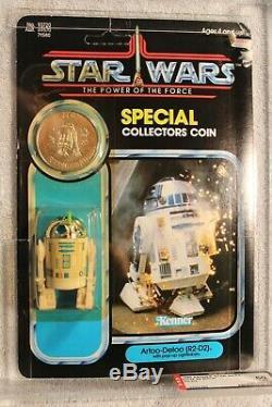Vintage Kenner 1985 Star Wars R2-d2 Pop Up Lightsaber Potf 92 Arrière Afa 60