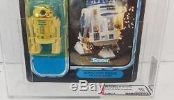 Vintage Kenner Star Wars Potf 92 Précédent R2-d2 Avec Sabre Laser Afa 60