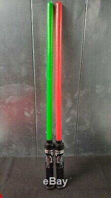 Vintage Star Wars La Force Light Saber Le Retour Du Jedi Kenner 1980 Vert / Rouge