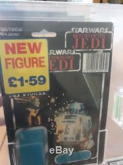 Vintage Star Wars Last 17 R2-d2 Sabre Laser Lumineux Figure 80% Peinture 80% Classé