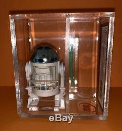 Vintage Star Wars R2-d2 Pop Up Light Saber Figure Ukg 80% Last17 Minty Kenner 84