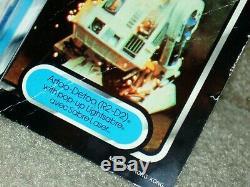 Wars Vintage 1985 Étoiles R2-d2 Pop-up Sabre Tri-logo Carte Retour Moc Afa Clb It