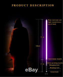 Y2 Star Wars Lightsaber Combat Dueling Sabre Laser Noir Métal Hilt 11 Couleurs