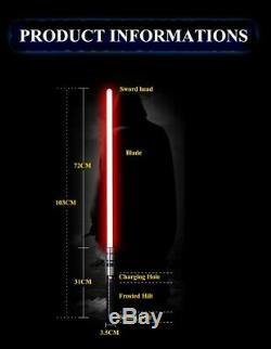 Y6 Phantom Star Wars Entraînement Au Sabre Laser Pour Le Combat, Sabre Laser, Garde En Métal, Rvb 100cm