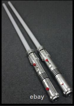 Ydd Star Wars Replica Sabre Laser Darth Maul Cosplay Silver Metal Red Light Prop